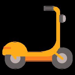 Scooter eléctrico amarillo plano
