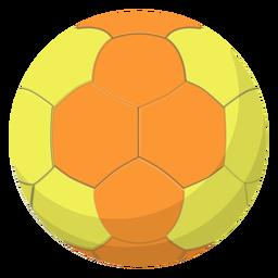 Ilustración de balonmano amarillo