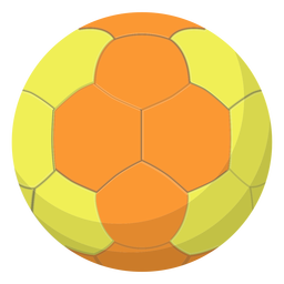Yellow handball illustration