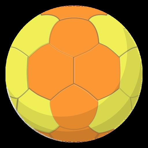 Yellow handball illustration