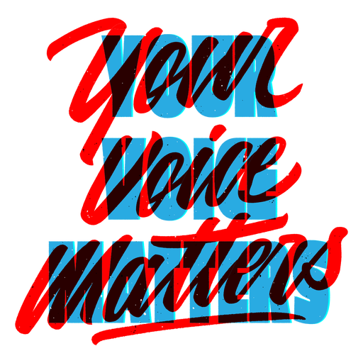 Your voice matters blm lettering