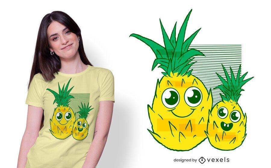 Design de t-shirt de abacaxi bonito