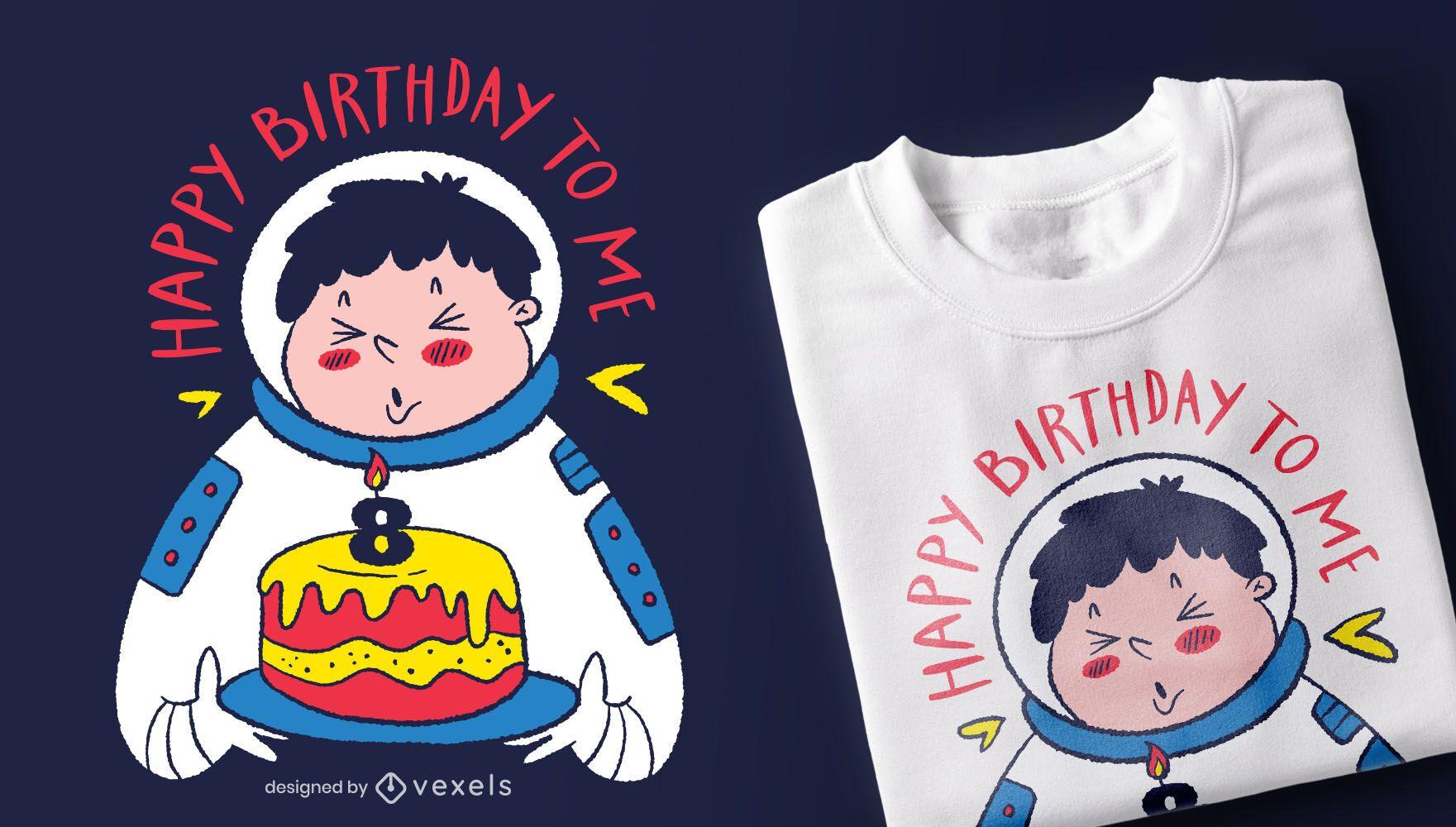 Birthday astronaut t-shirt design