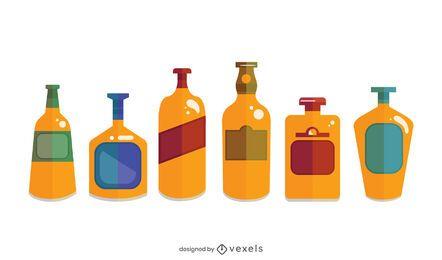 Paquete de diseño de botellas de whisky