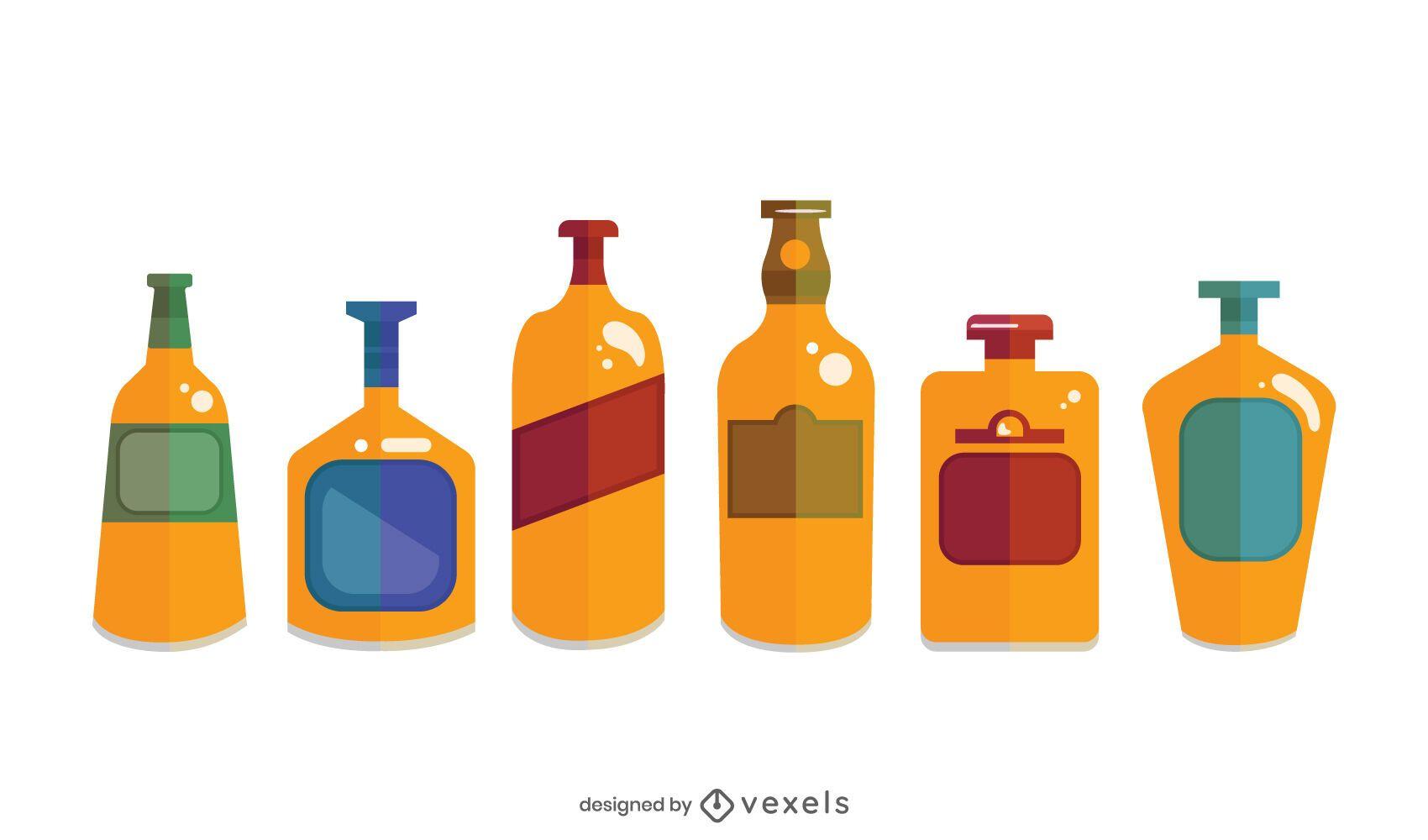Whisky Bottles Design Pack
