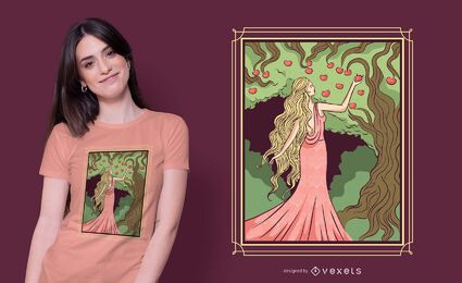 Goddess Idun T-shirt Design