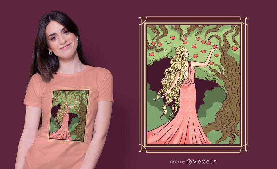 Deusa Idun T-shirt Design
