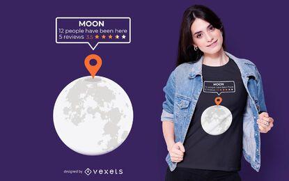 Design de camiseta de localização de lua