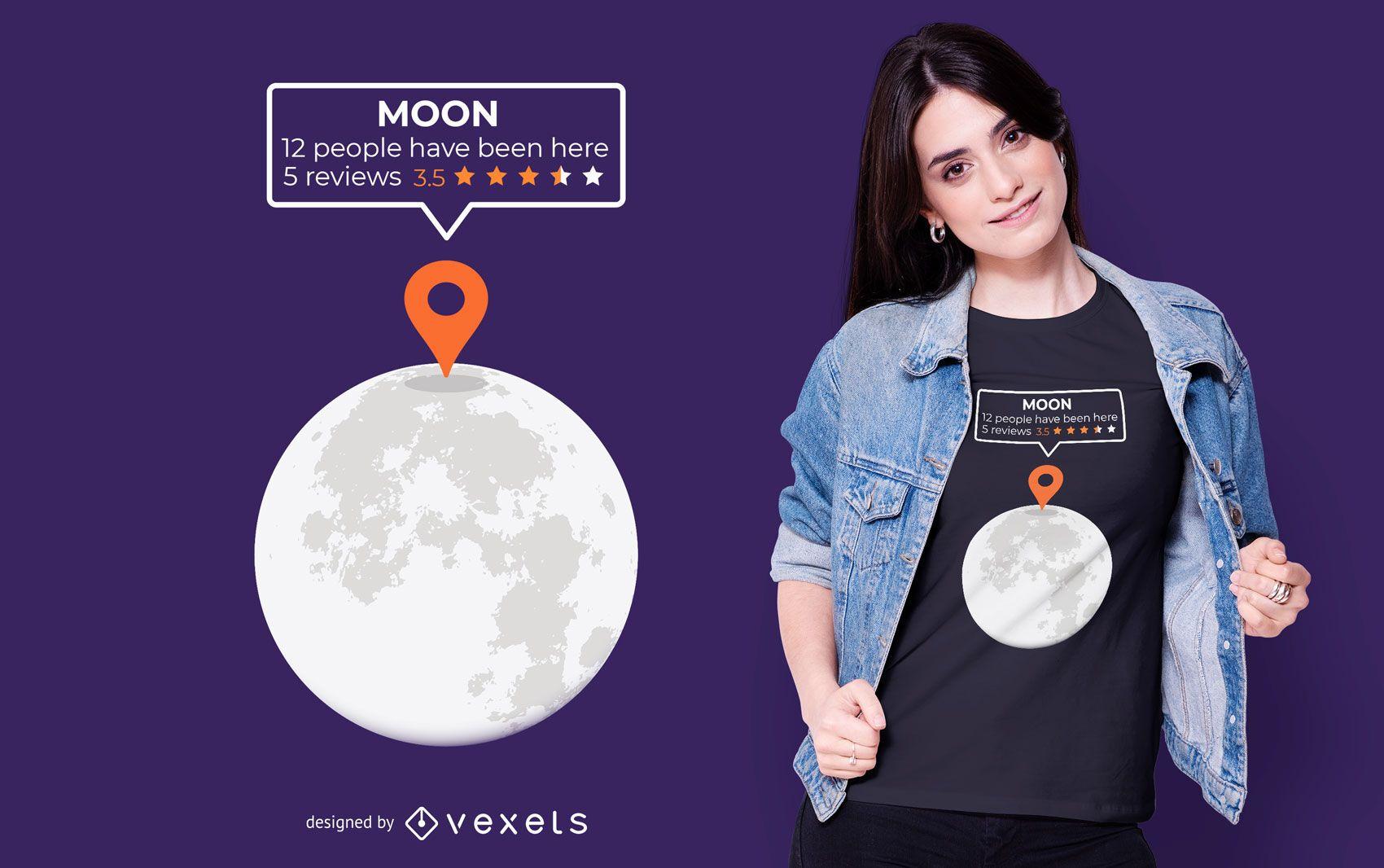 Moon Location T-shirt Design