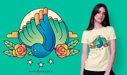 Diseño de camiseta Blue Bird Emblem