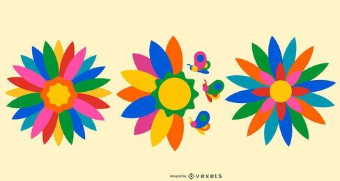 Otomi Flower Design Set