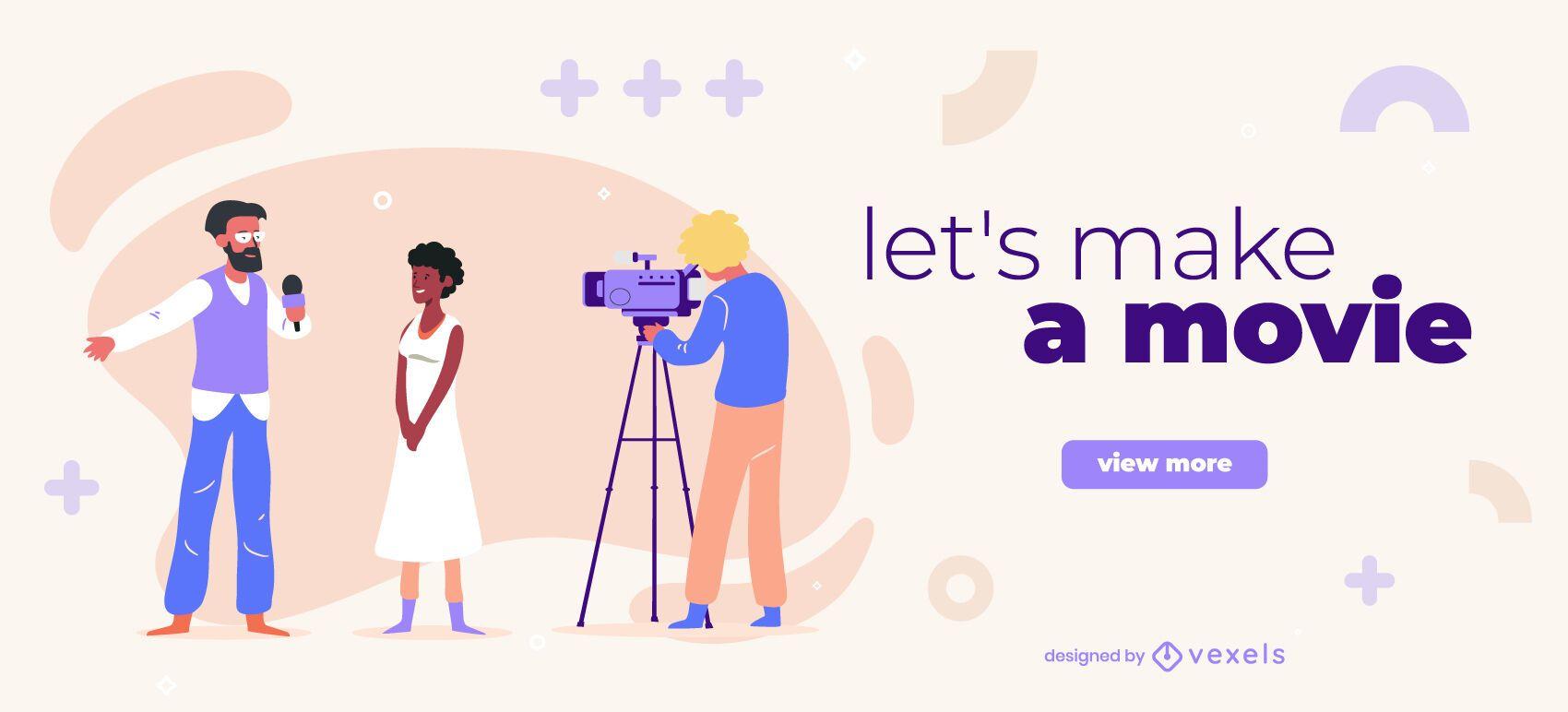 Make a movie slider design