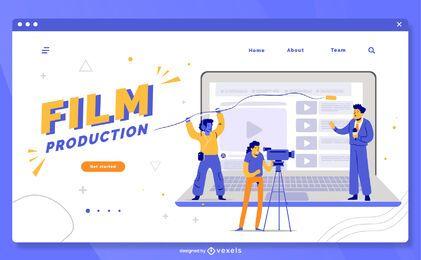 Modelo de página de destino da produção de filmes