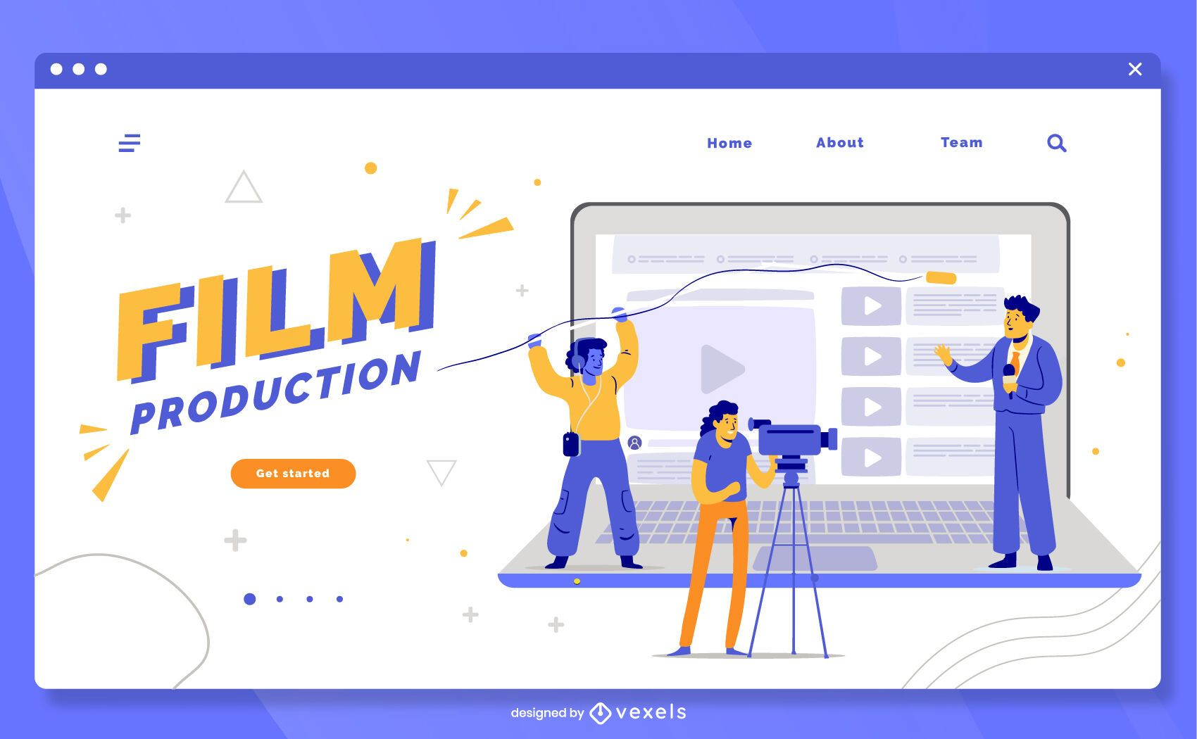 Film production landing page template