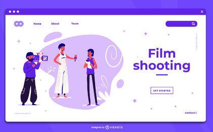 Modelo de página de destino de filmagem