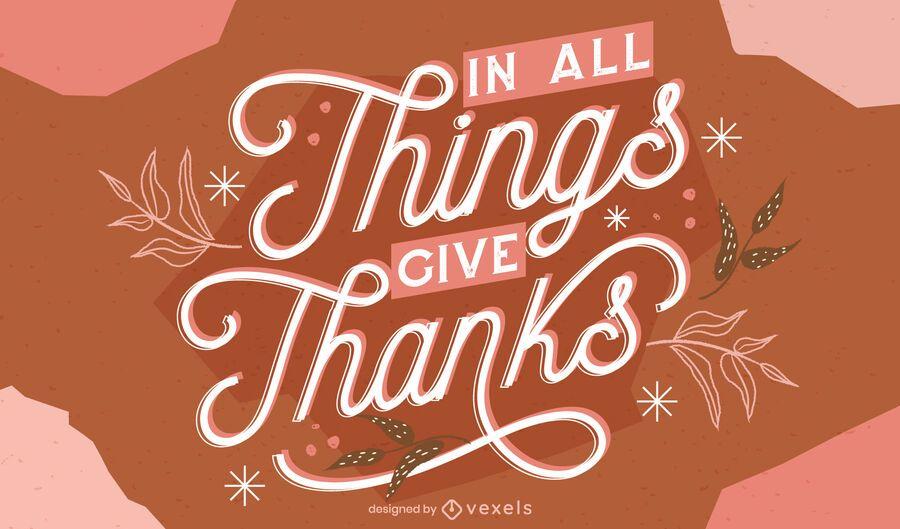 Dê graças letras de ação de Graças