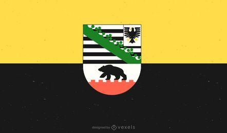 Diseño de la bandera de Sachsen-Anhalt