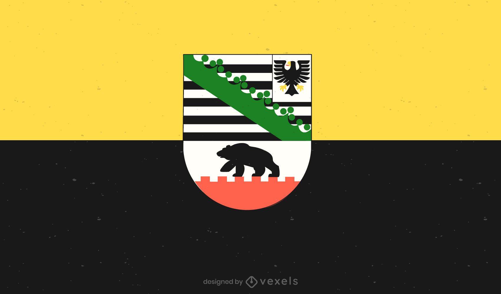 Projeto da bandeira Sachsen-Anhalt