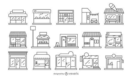 Storefront Stroke Style Design Collection
