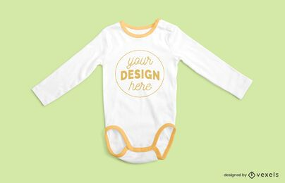 Onesie sleeves on sides mockup