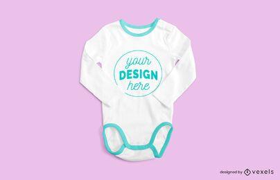 Onesie crossed sleeves mockup