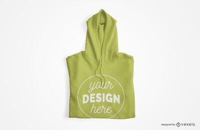 Design de maquete de capuz dobrado
