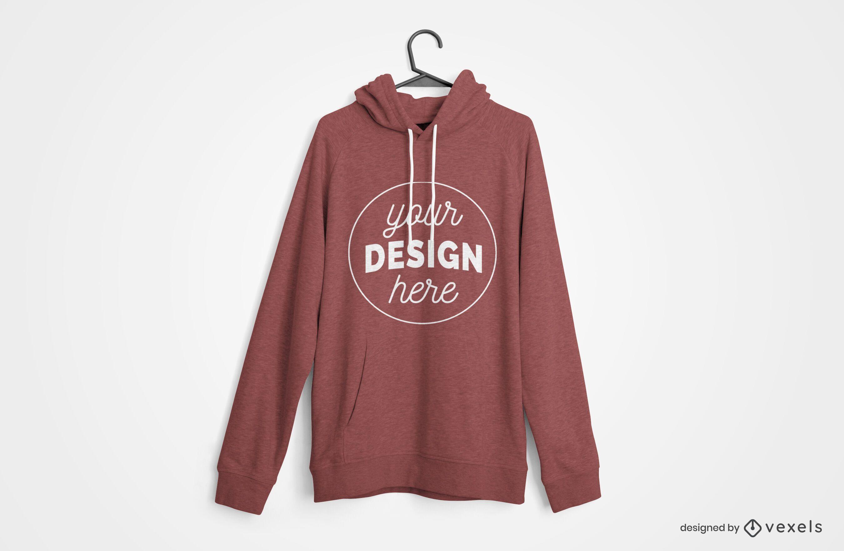 Hanged hoodie mockup design