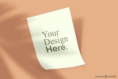 Modelo de maquete de cartaz levantado