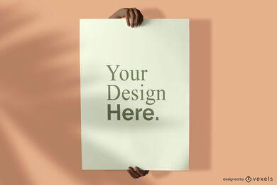 Maquete de cartaz de exploração de mão