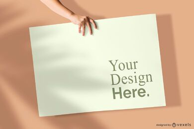 Hand Poster Mockup