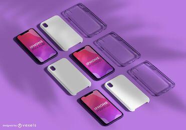 Pacote de maquete para vários iPhone