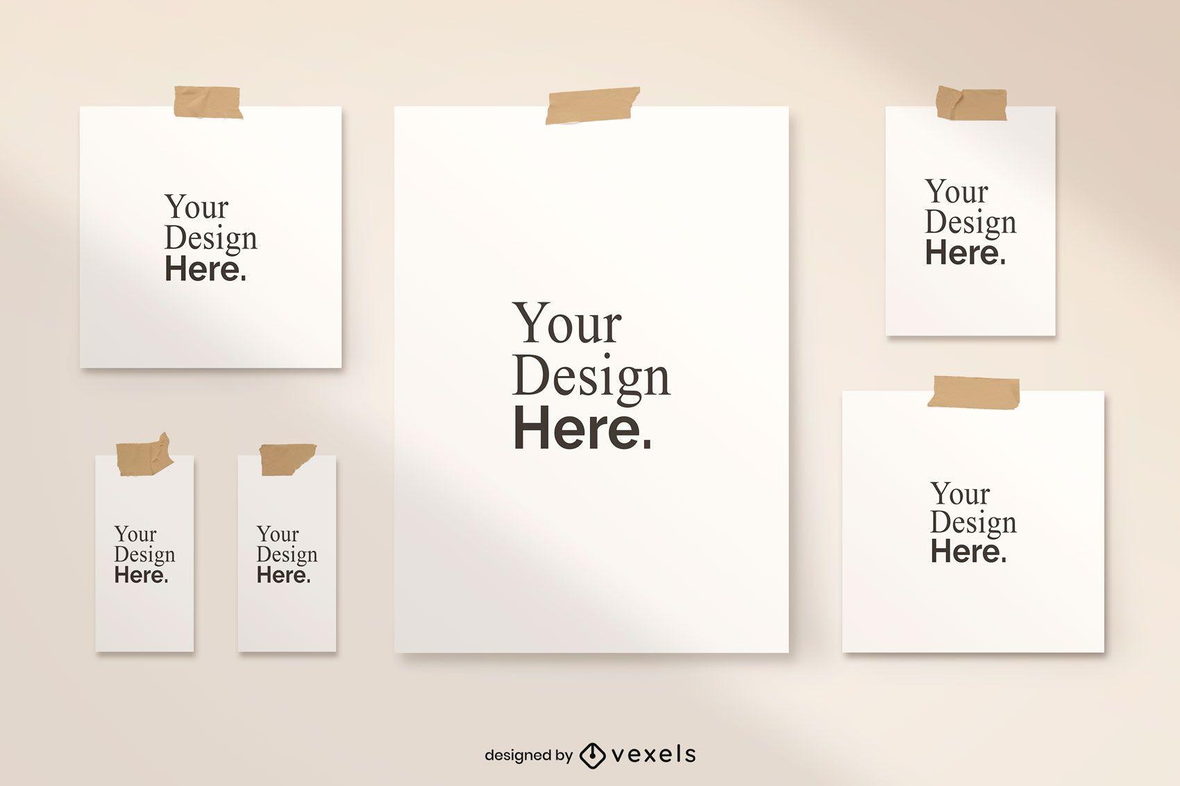 Diseño de maqueta de póster grabado