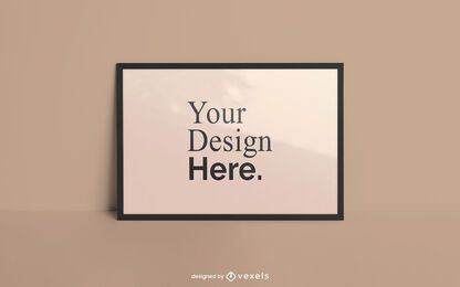 Maqueta de póster de marco horizontal