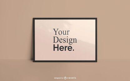 Maquete de cartaz de quadro horizontal
