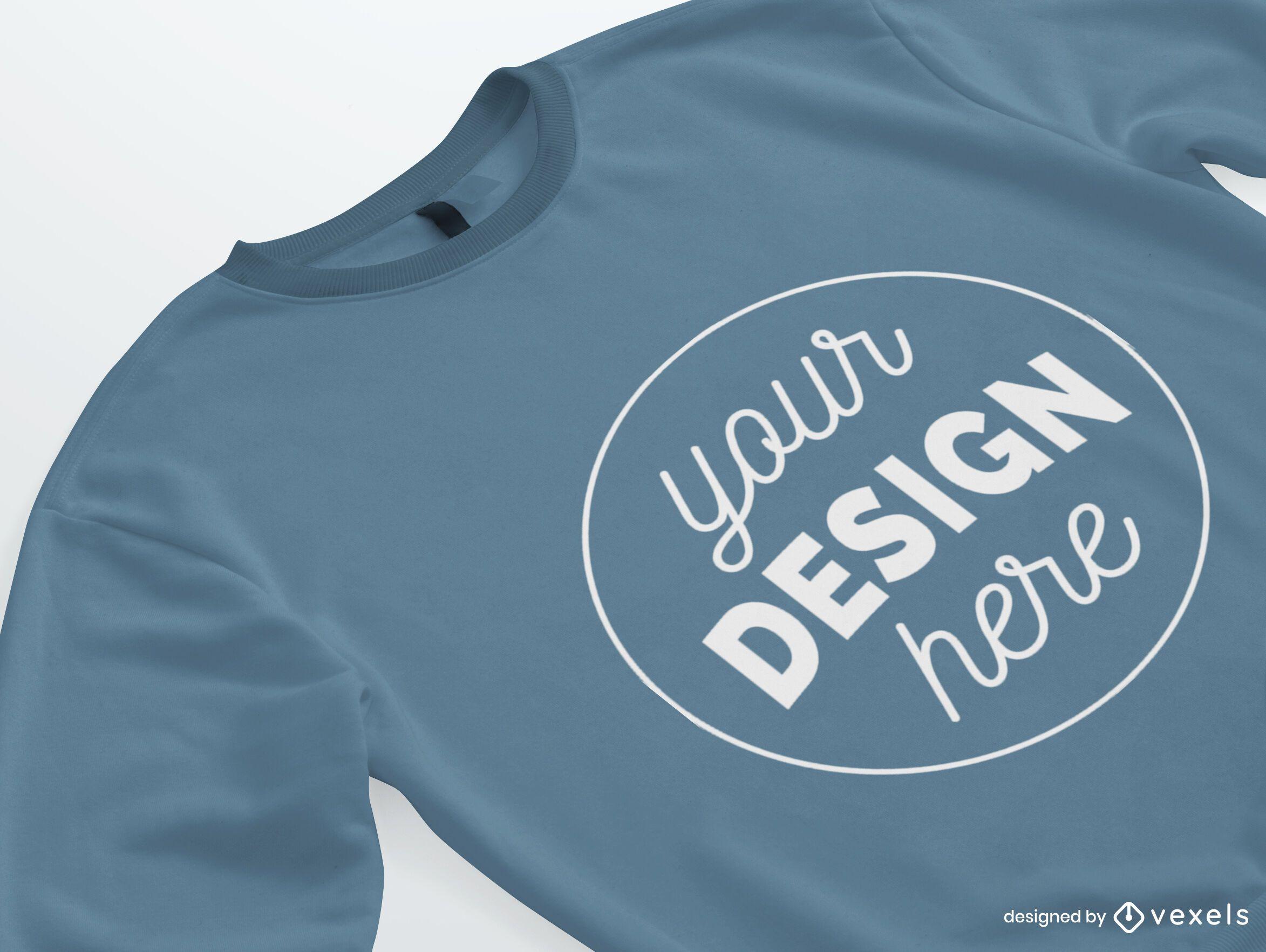 Isometric Sweatshirt Merch Mockup
