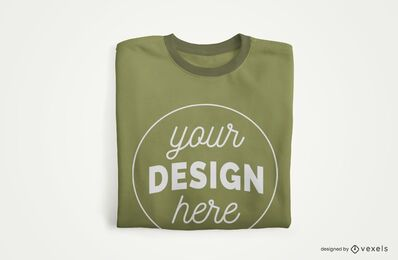 Maqueta de Merch de camiseta doblada