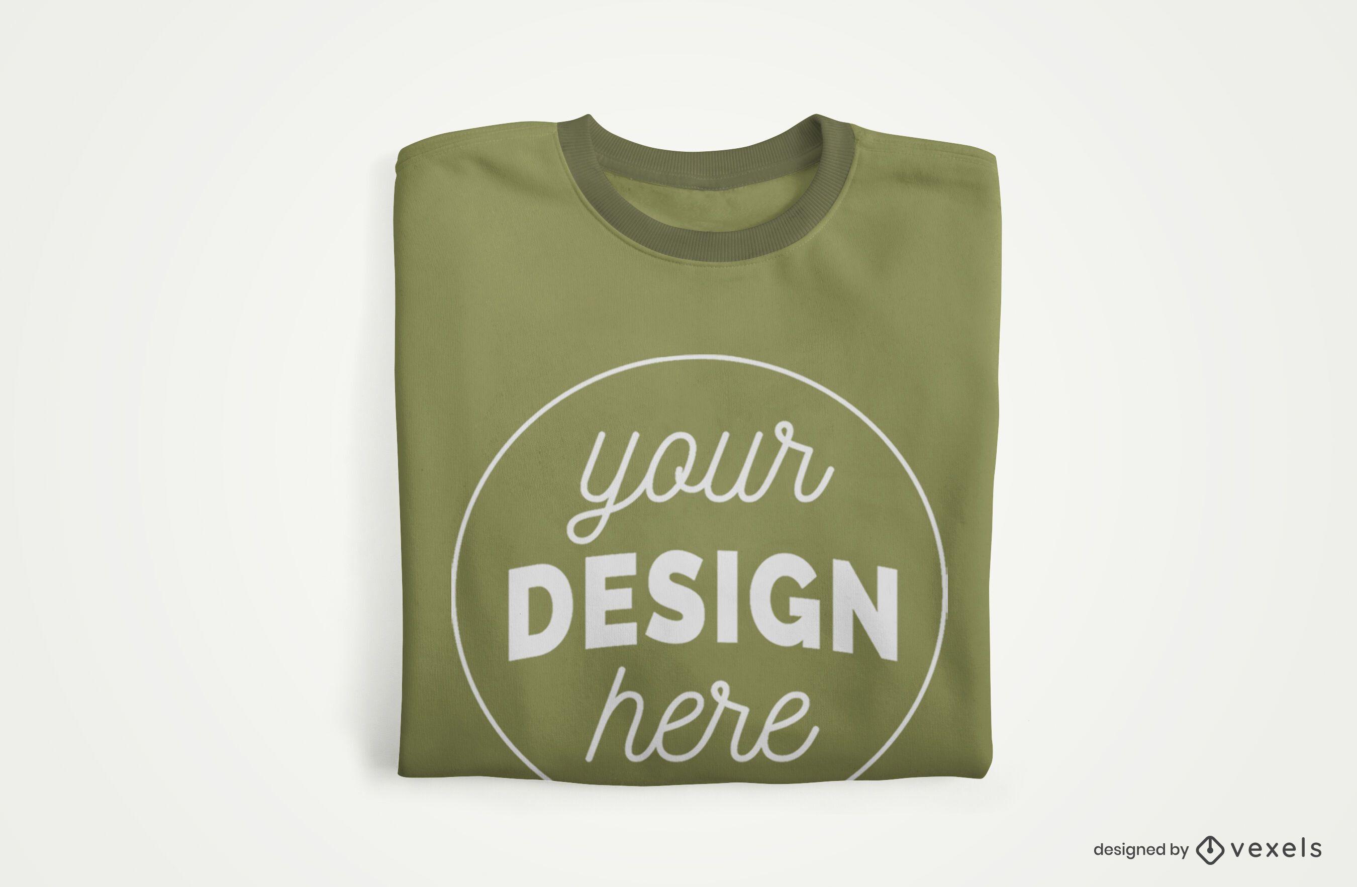 Folded T-shirt Merch Mockup