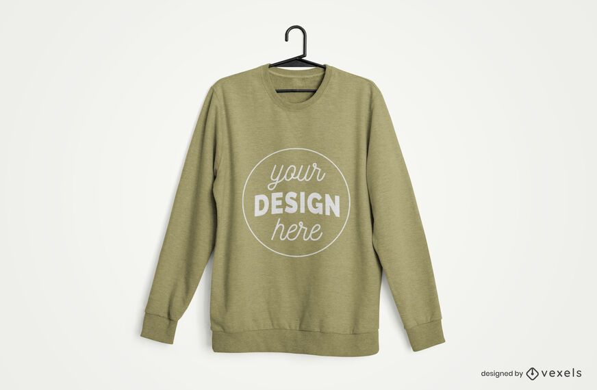Hanger Sweatshirt Merch Mockup
