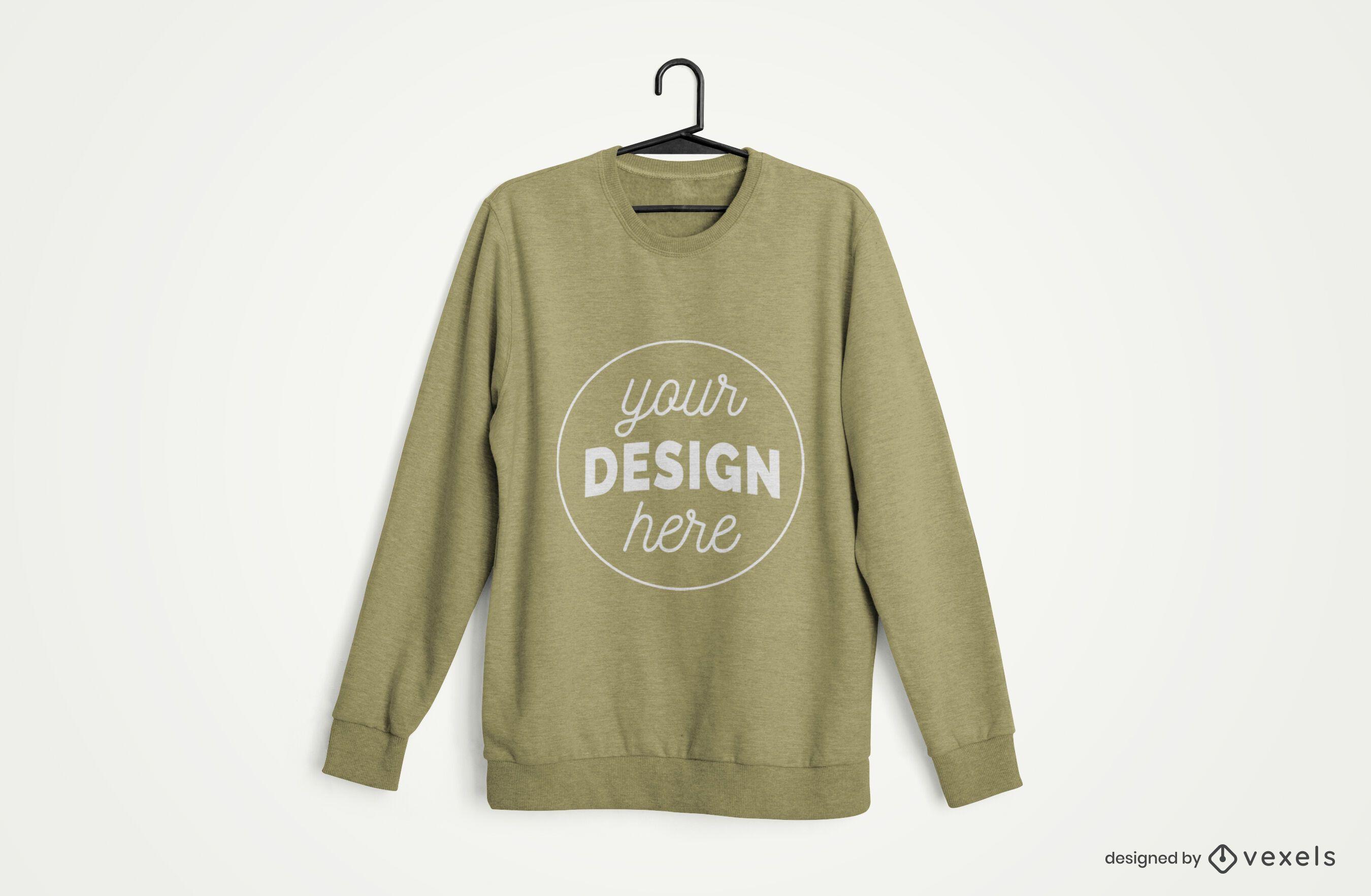 Hanger Sweatshirt Merch Mockup