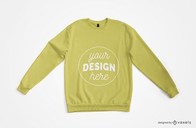 Sweatshirt Draufsicht Merch Mockup