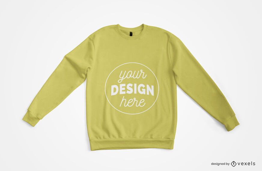 Sweatshirt Top View Merch Mockup