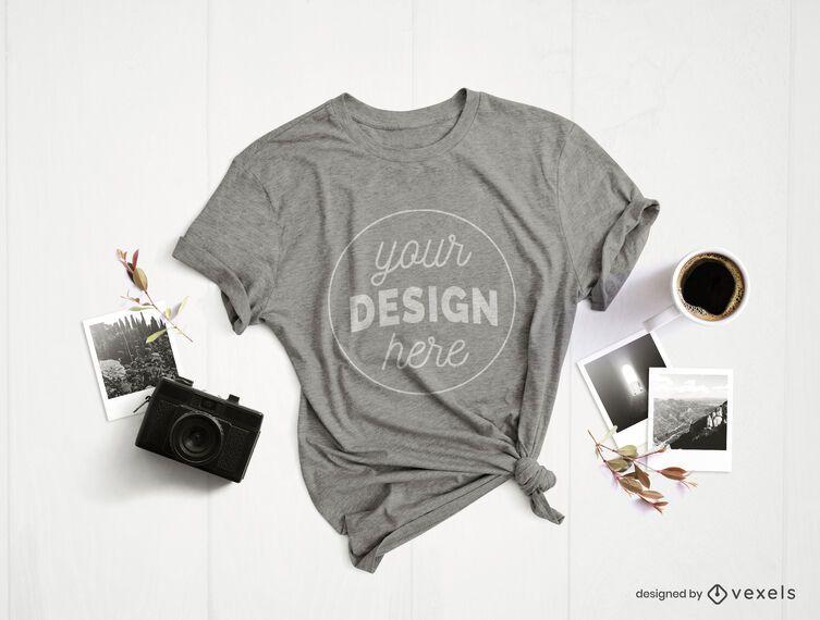 Maquete de t-shirt de composição de fotografia