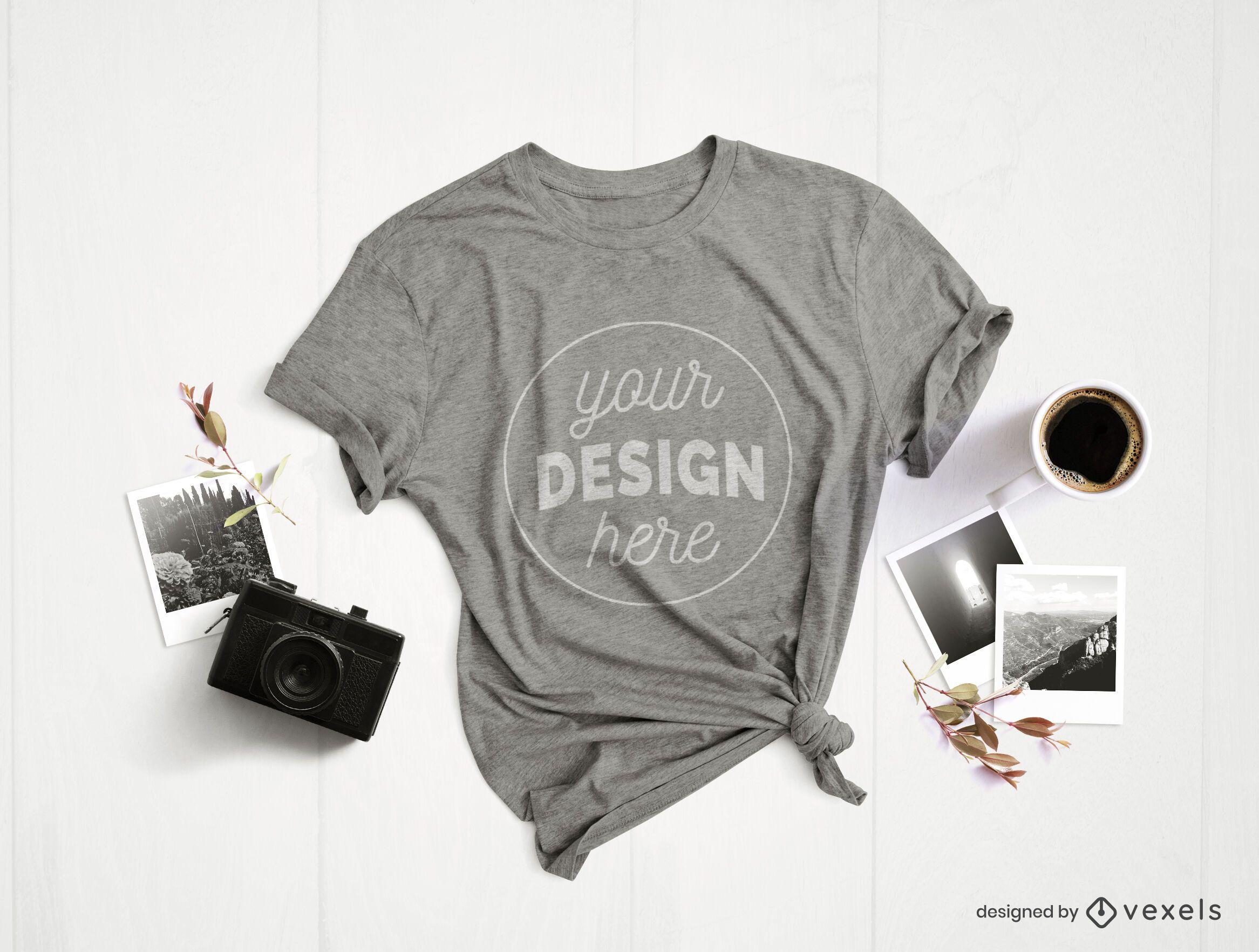 Maqueta de camiseta de composición de fotografía