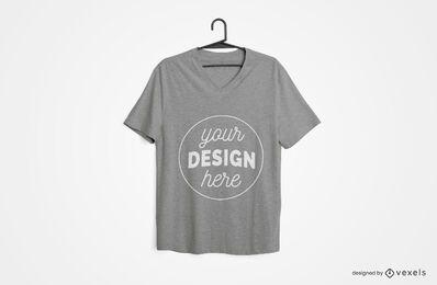 Design de maquete de camiseta pendurada