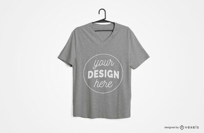 Hanged t-shirt mockup design
