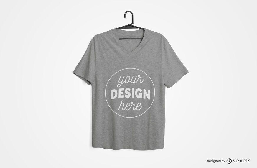 Design de maquete de camiseta enforcada
