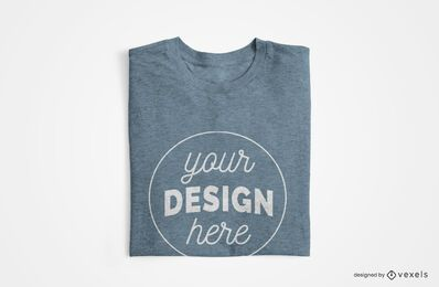 Folded t-shirt mockup design