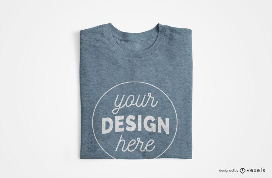 Design de maquete de camiseta dobrada