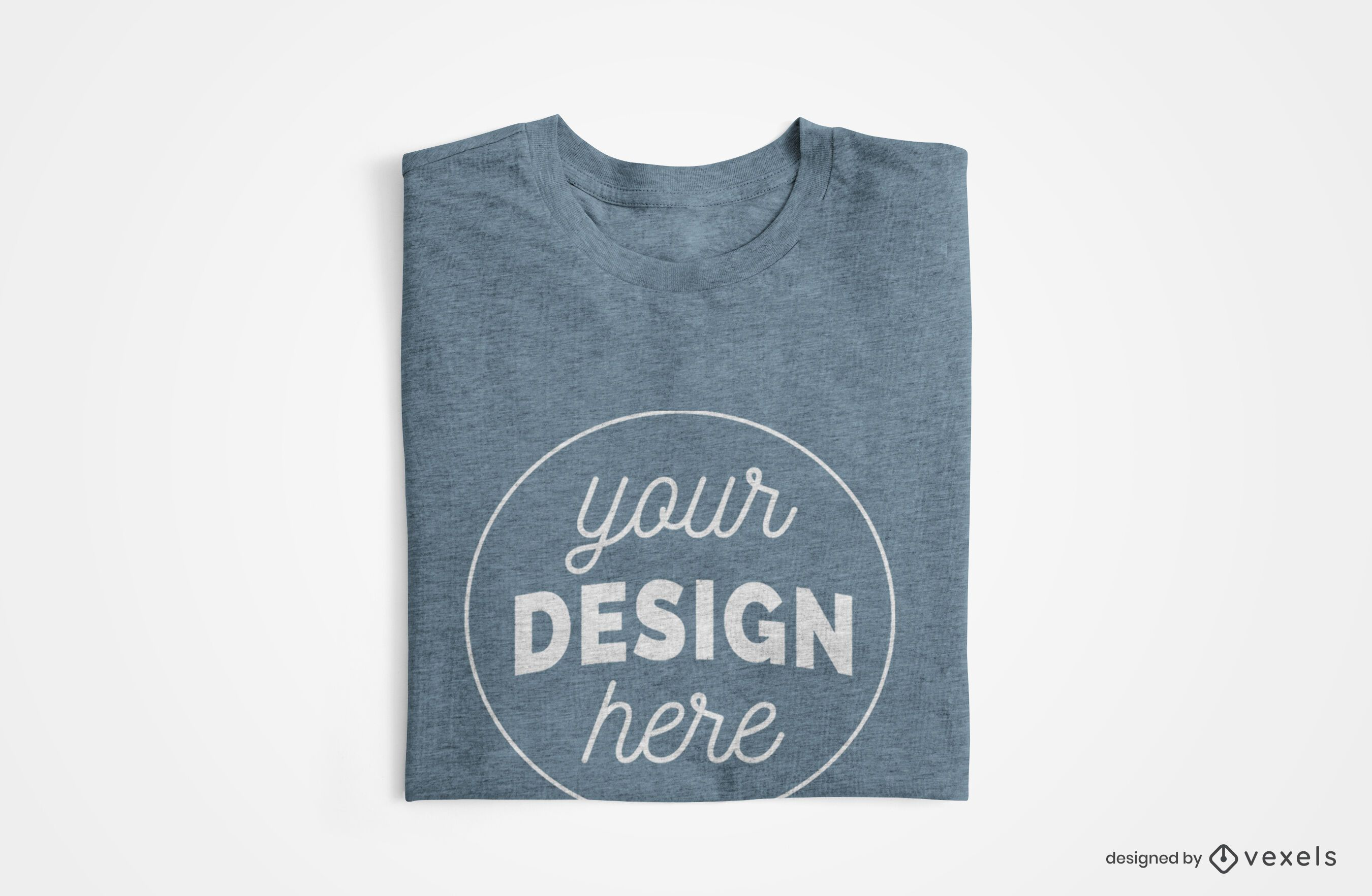 Folded t-shirt mockup design
