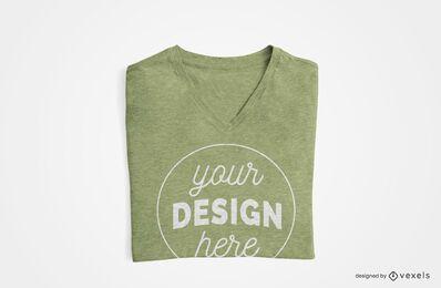 Diseño de camiseta doblada.
